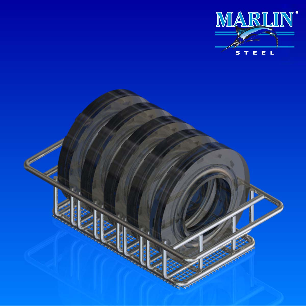 Marlin Steel Wire Material Handling Basket 599015