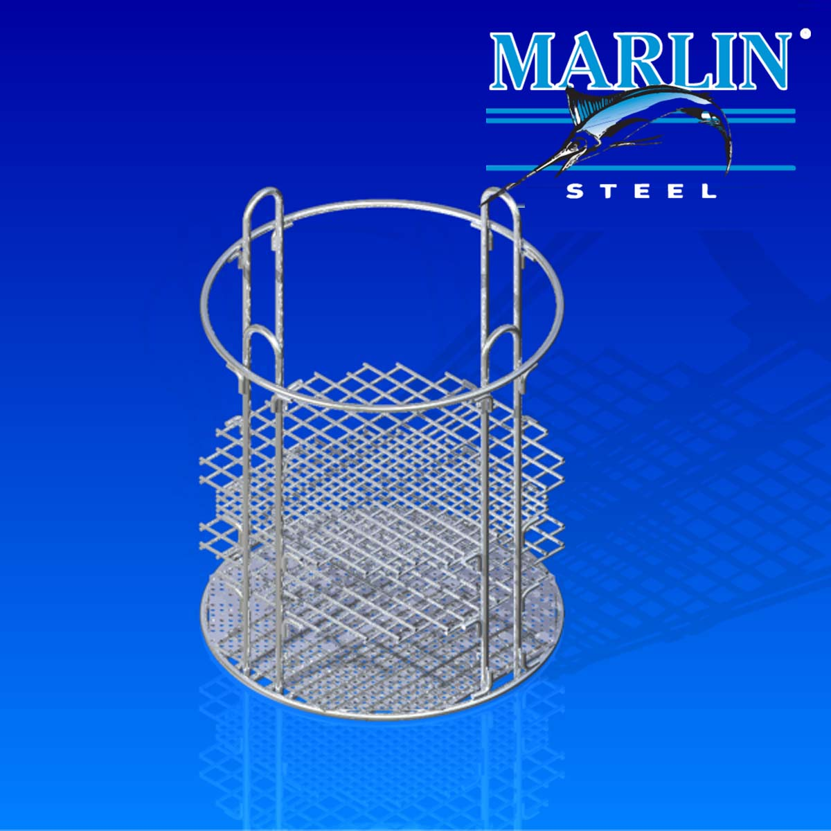 Marlin Steel Round Basket 719008