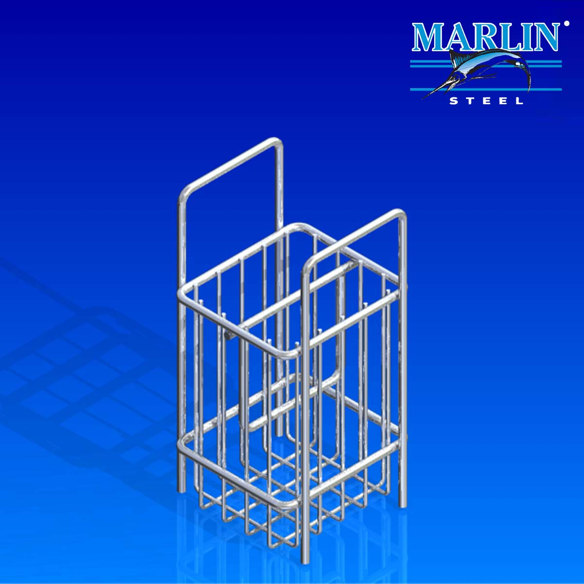 Marlin Steel Wire Basket with Handles 747001