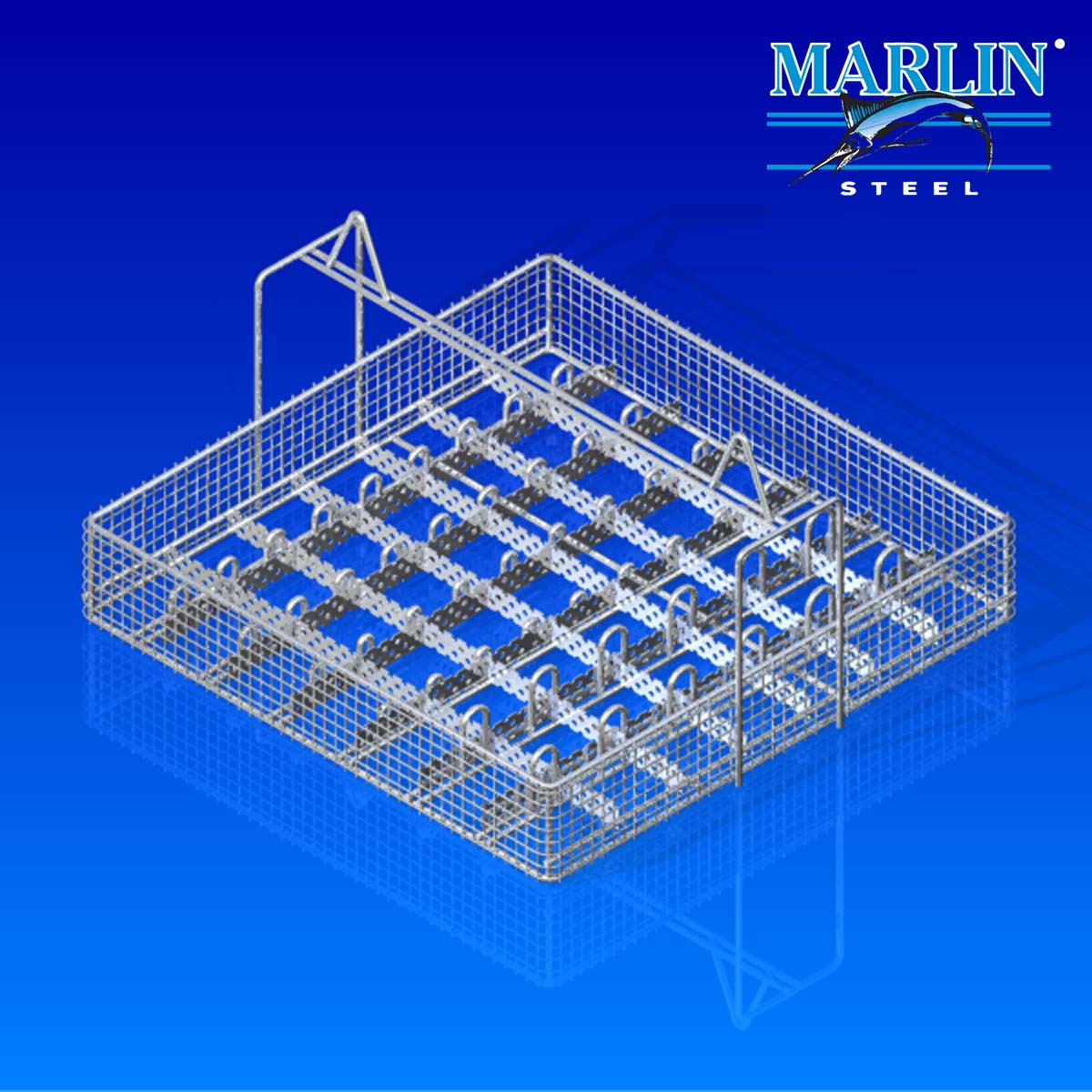 Marlin Steel Wire Basket with Dividers 819002
