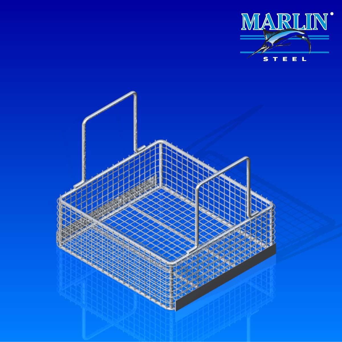 Marlin Steel Wire Basket with Handles 854007
