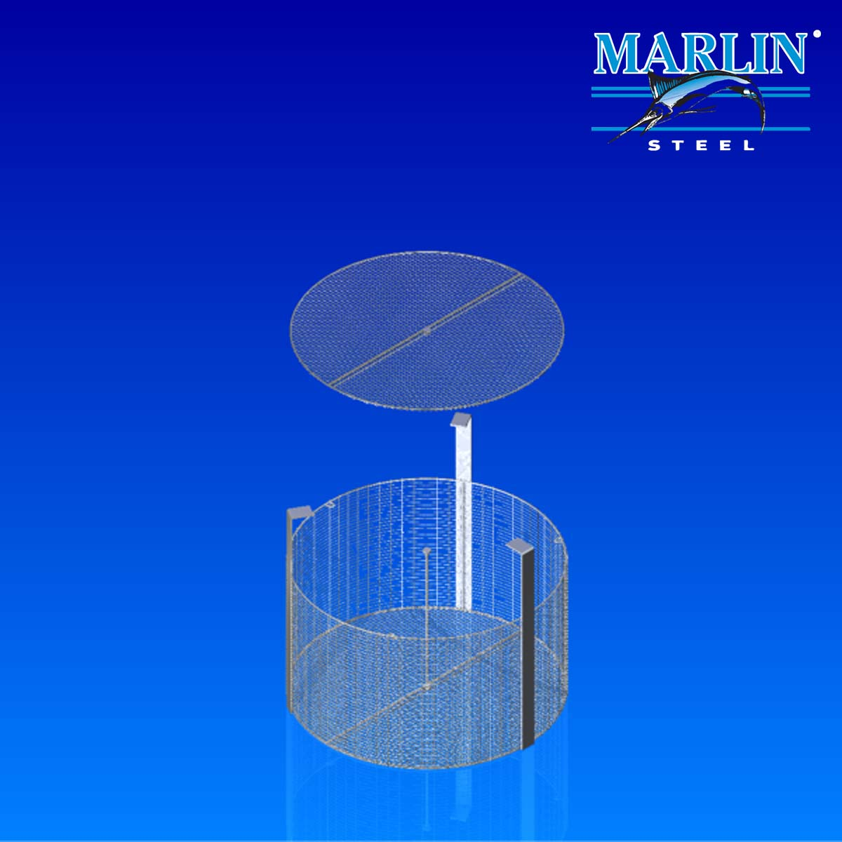 Wire Basket with Dividers 874001