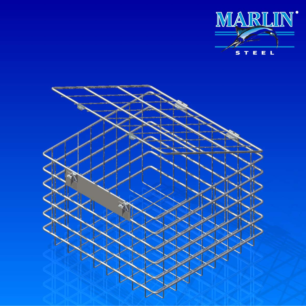 Wire Basket with Lid 887001