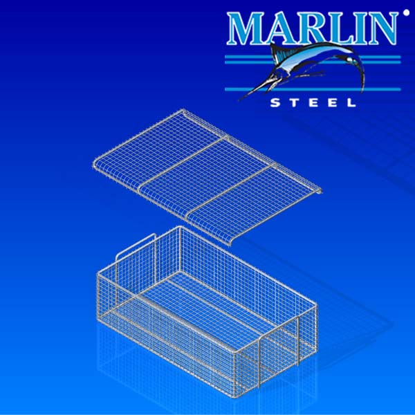 Wire Basket with Lid 696001