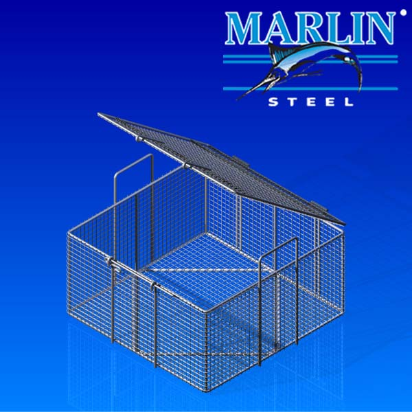 Wire Basket with Lid 542001