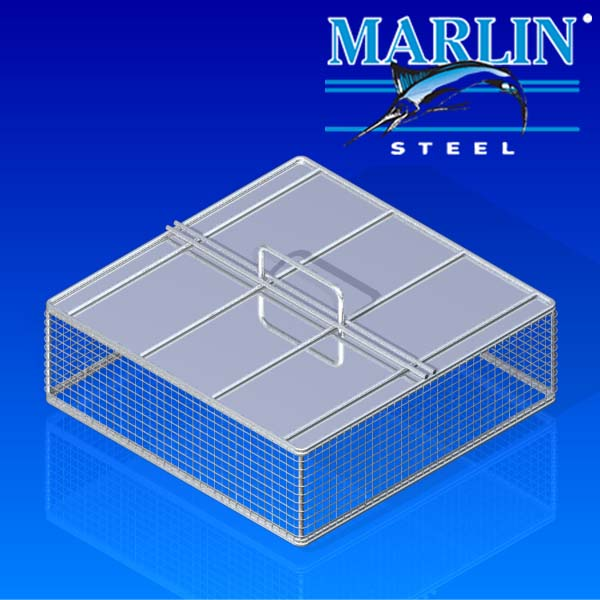 Wire Basket with Lid 441001