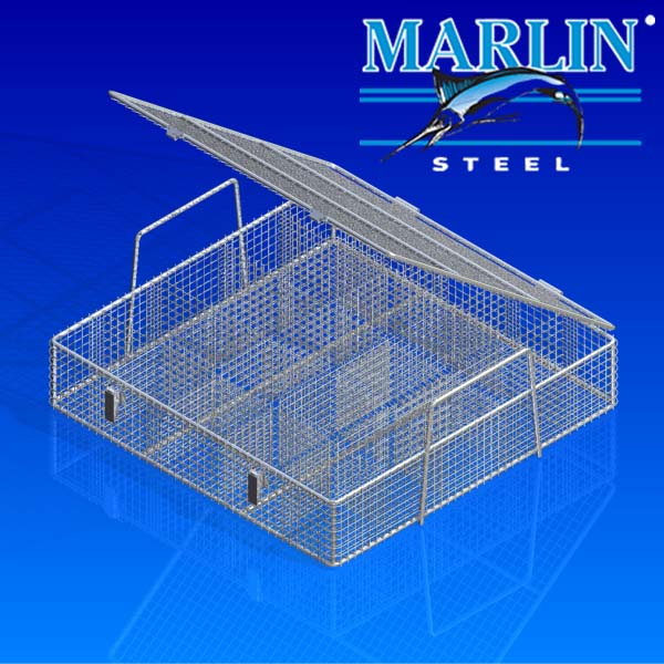 Wire Basket with Lid 443005
