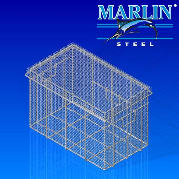 Wire Basket with Lid 751002