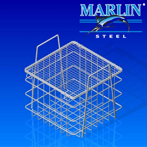 Wire Basket with Lid 145001