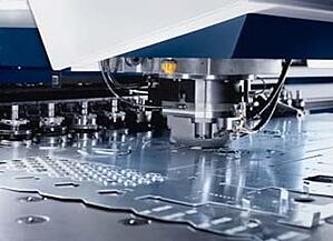 Marlin's Trumpf Trupunch is one of many sheet metal fabrication tools that the manufacturing team uses.