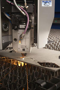 laser cutting is highly precise and efficient at cutting sheet metal forms for baskets and other applications.