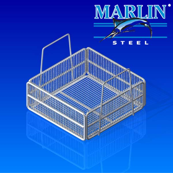 Marlin Steel Wire Basket with Handles 980002