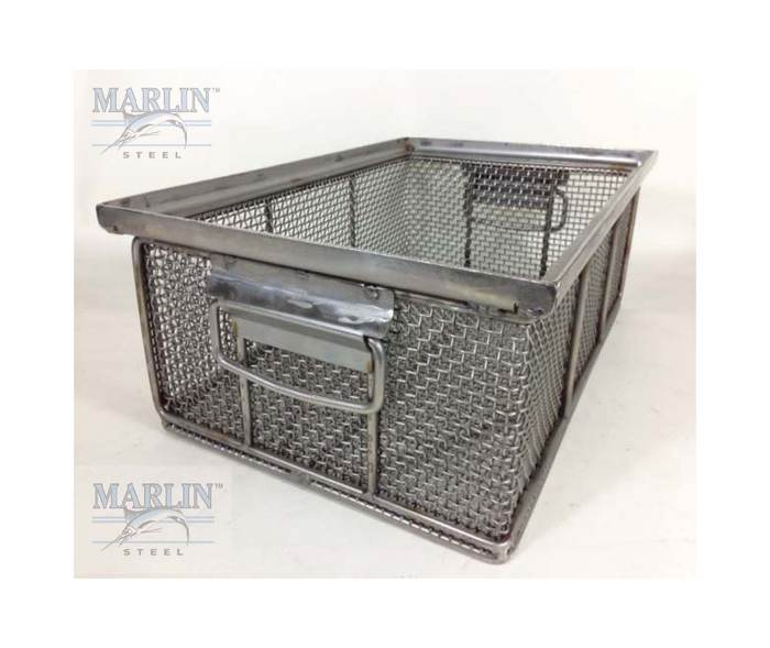 Parts Washing Basket That Stack With Mesh To Hold Delicate
