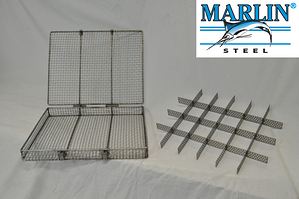there are many different types of custom steel wire baskets that have many different features, such as locking lids or dividers.