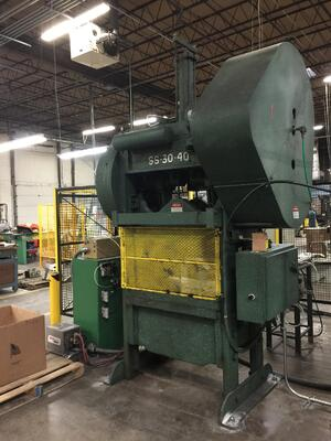The Rouselle stamping machine is a manufacturing powerhouse that uses 80 tons of brute force to shape steel.