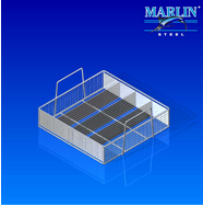Custom Wire Basket with Dividers 920002