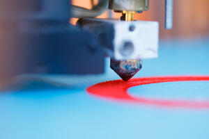 3D printers work by assembling parts one layer at a time until the full part is complete.