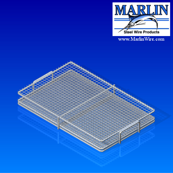 Marlin Steel Wire Baskets with Handles and Lids 730001