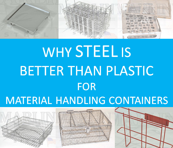Comparing HDPE to Stainless Steel for Parts Washing Baskets