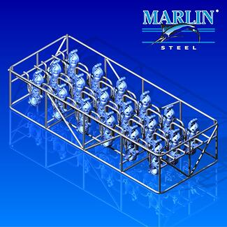 Marlin Steel Wire Basket 2016004 separates its parts to avoid scratching
