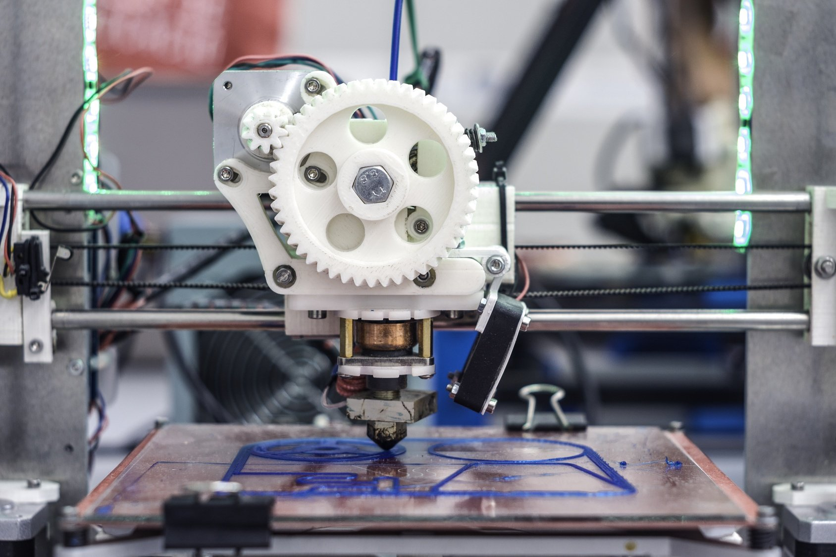 Marlin's 3D printer can manufacture a wide variety of objects on a moment's notice.