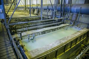 Chemical baths are a key part of the passivation process.