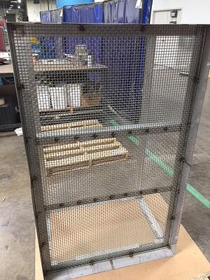 This stainless steel 304-grade cart is designed to be used in military facilities around the world.