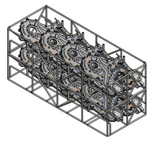 Aluminum component washing basket