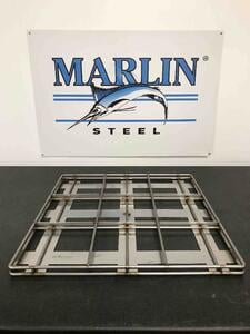 This parts drying tray has a lot of open space at the bottom and several raised bars to ensure that the hot oven air reaches the maximum surface area on the parts the tray holds.
