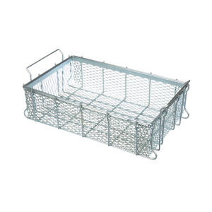 This expanded metal basket has plenty of open space for parts washing, but is also highly resilient.