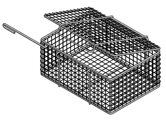 A Lidded Food Processing Equipment Basket