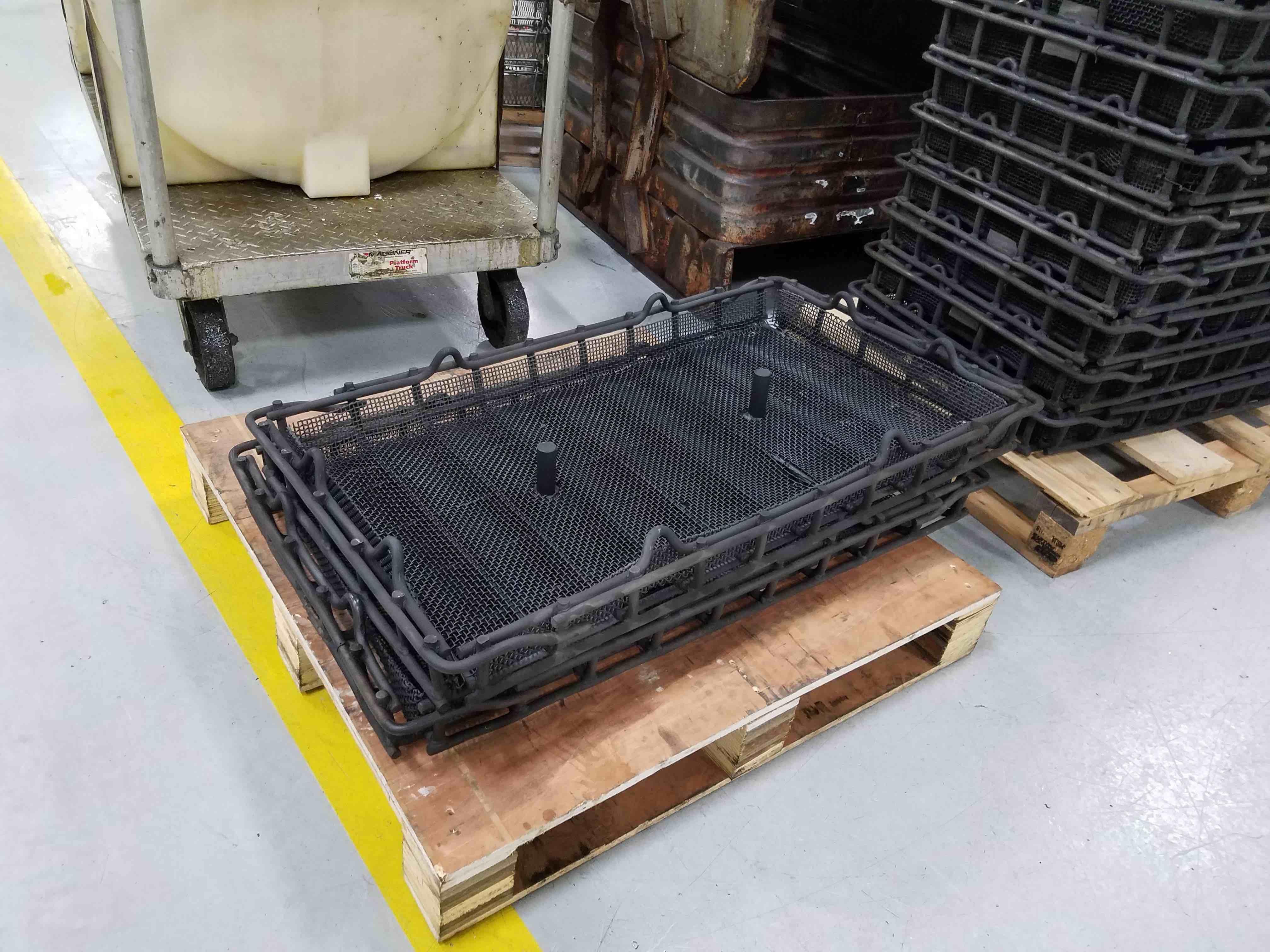 Heat Treat Baskets in Stack