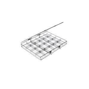 removable dividers and other speciality inserts help increase the versatility of wire baskets.