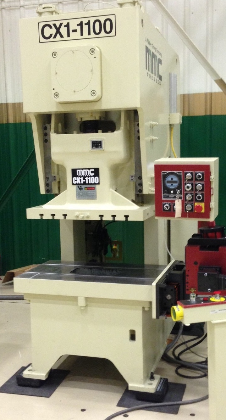 This gap press will help Marlin expand its list of custom metal forming services by allowing Marlin's engineers to shape tougher, thicker pieces of metal.