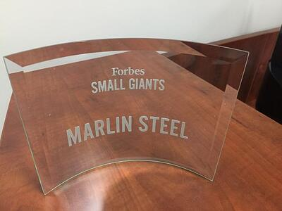 Marlin's Small Giants clear plaque