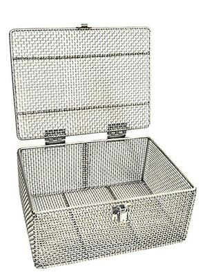 Wire mesh baskets are often optimal for ultrasonic parts cleaning.
