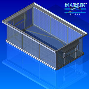 Some basket designs work just as well when made from plain steel. This simple materials handling basket is one example.