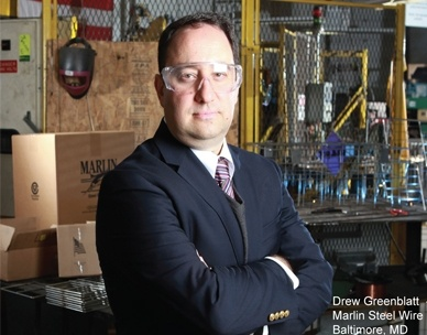 Drew Greenblatt is the Owner and CEO of Marlin Steel Wire Products