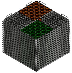 Stack of Olive Baskets