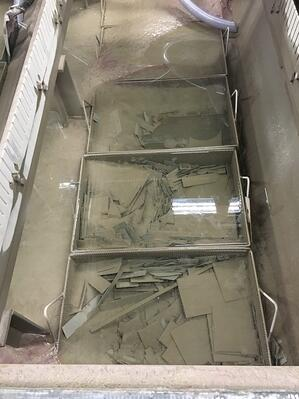 Waterjet baskets can collect debris and castoffs from the cutting process to make removing them from the collection tank easy.