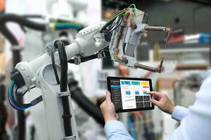 Factory automation allows workers to program robots to do the dangerous work while they focus on increasing productivity.