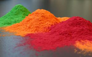 Powder coatings can come in a variety of colors.
