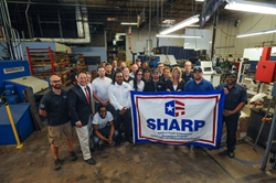 Marlin's employees are all proud of their achievement in earning the SHARP designation from OSHA.