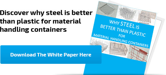 Discover why steel is better than plastic for material handling containers
