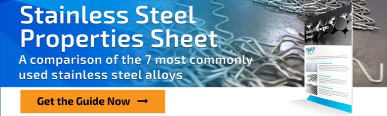 Marlin Steel's Stainless Steel Properties Sheet