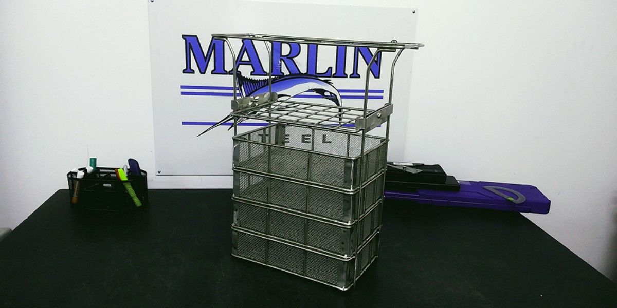 How Marlin Steel Designs Pharmaceutical Washing Baskets