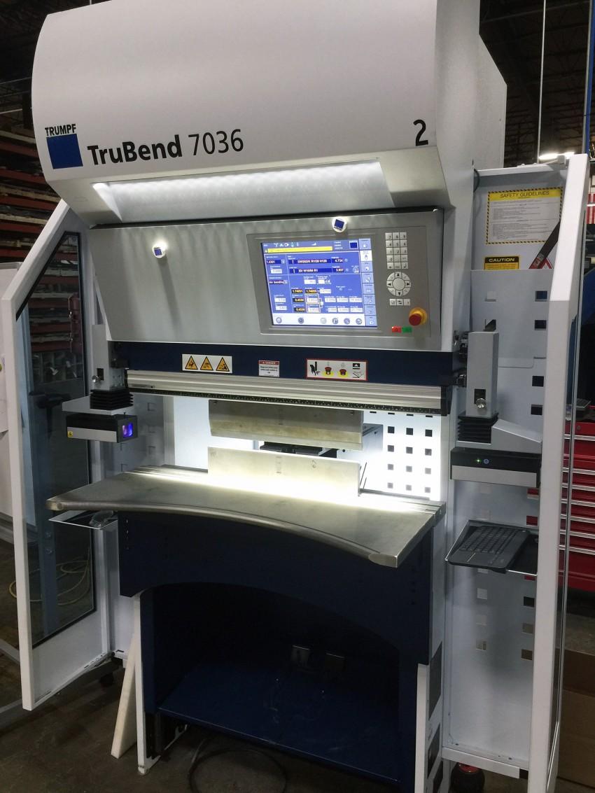 Marlin Steel Welcomes New Press Brake Trumpf TruBend 7036