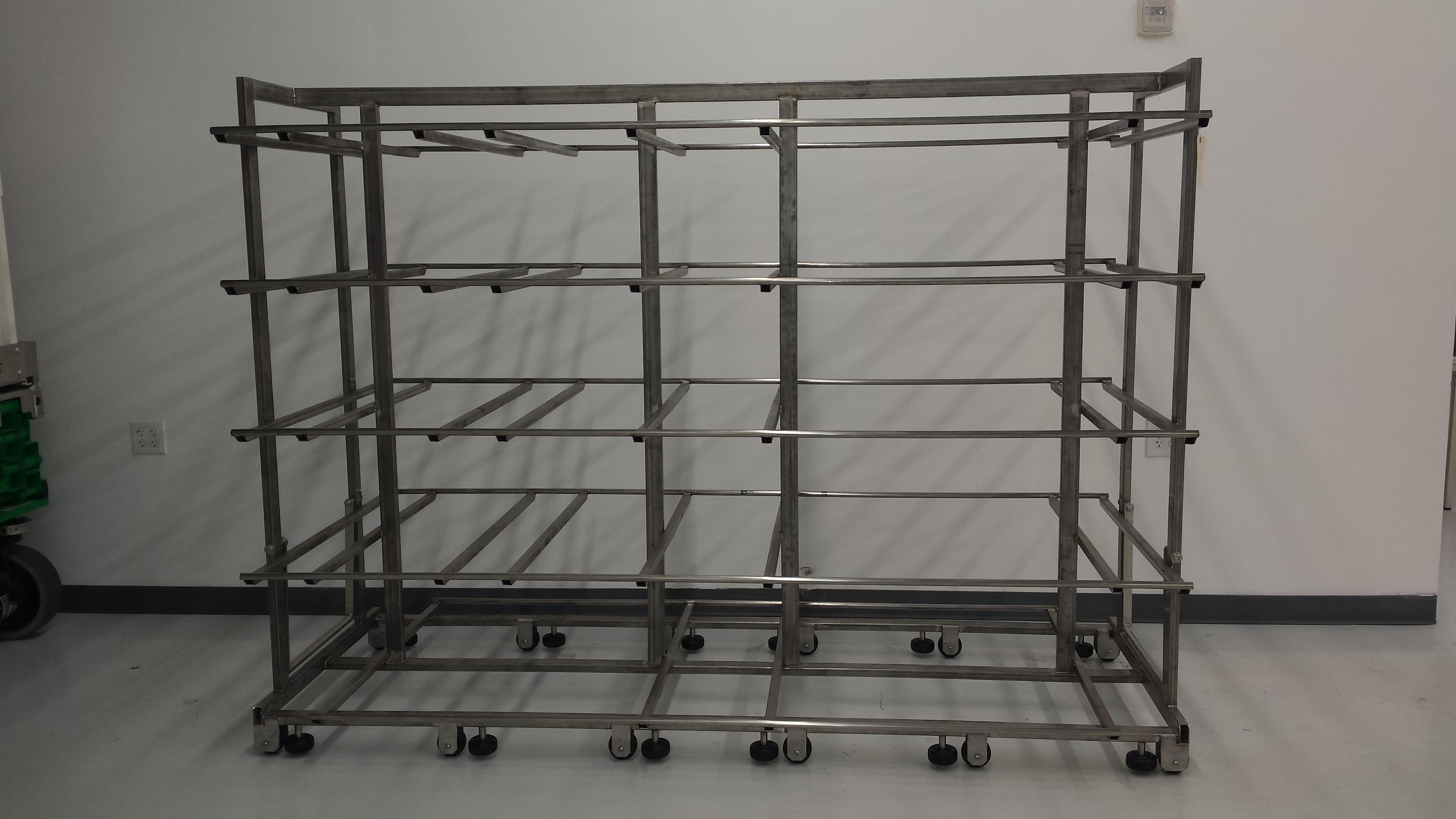 Custom Stainless Steel Cart for an Overseas Sterilization Process