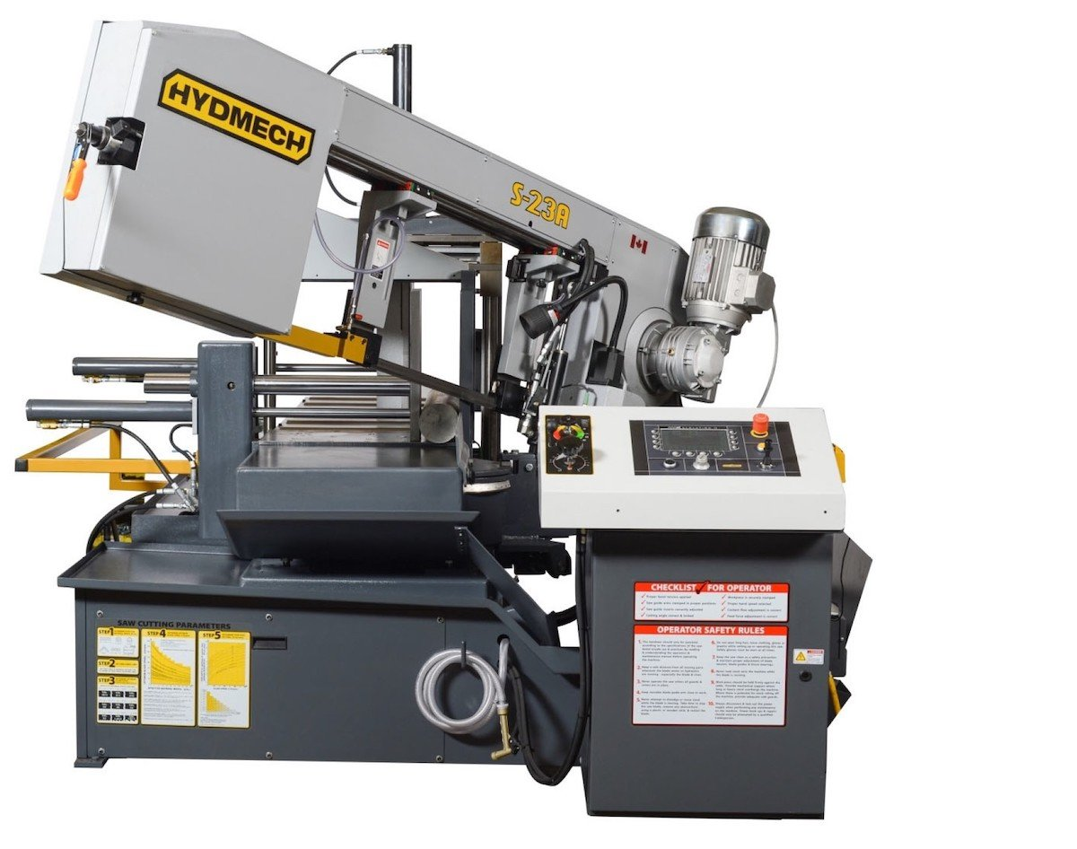 Marlin Steel Adds a Hydmech S-23A Automatic Pivot Style Band Saw