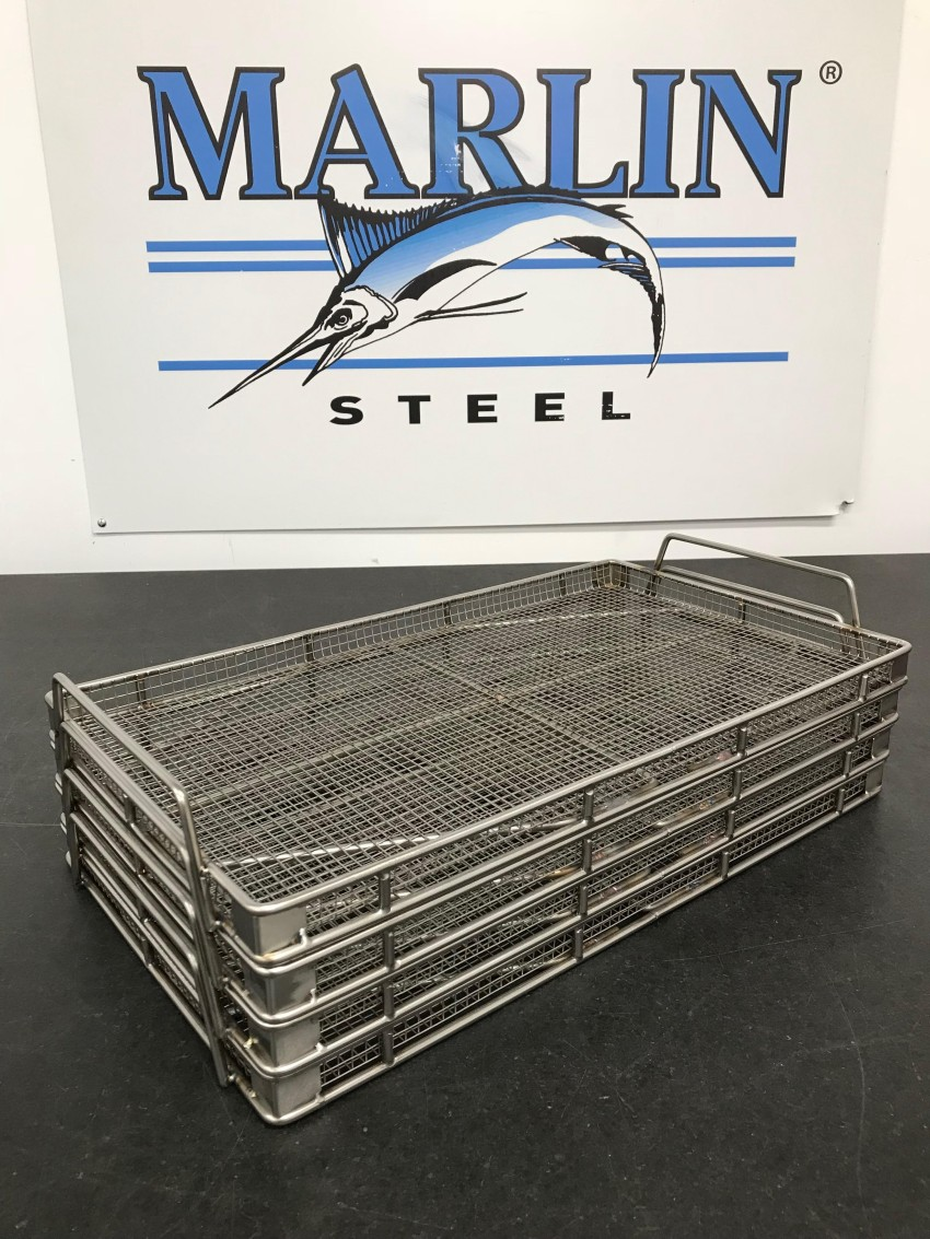 Stacking Custom Stainless Steel Baskets for Ultrasonic Cleaning